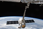 ISS-31 SpaceX Dragon commercial cargo craft is grappled by Canadarm2.jpg
