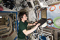 ISS-43 Samantha Cristoforetti MELFI-3 Cold Box inspection.jpg