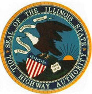 Flag and seal of Illinois