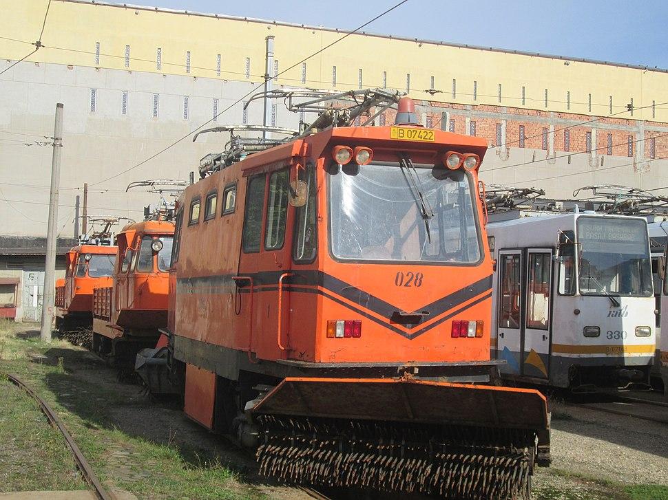 ITB 3VU snowplow tram in Victoria tram depot
