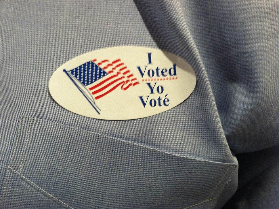 I voted on November 8 2016