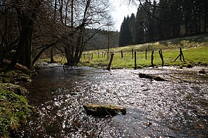 Ilme - Ilme in the Solling - Vogler Nature Park along the L548 (Sievershausen - Abbecke)
