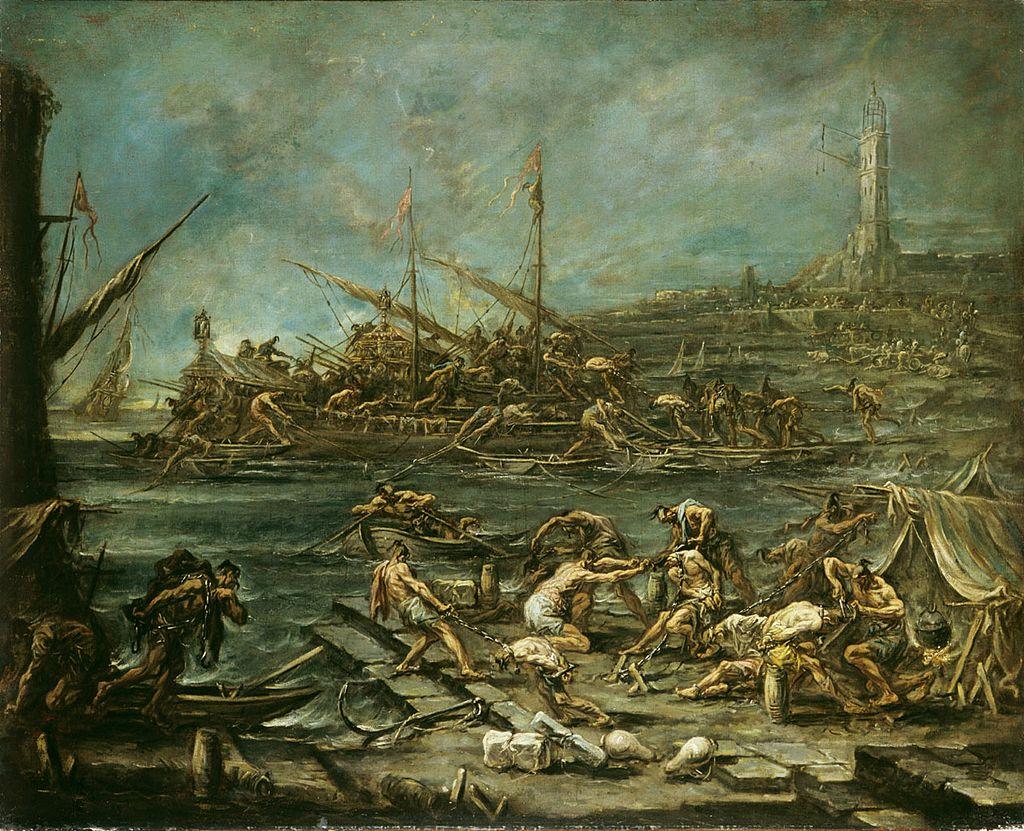 Imbarco dei galeotti nel porto di Genova - Magnasco.jpg