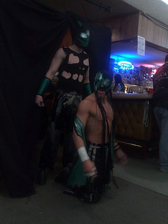 Delirious (wrestler) - Incoherence making their entrance at Pro Wrestling Guerrilla's ¡Dia de los Dangerous! event