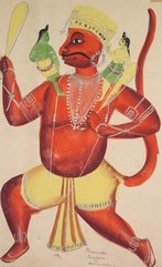Hanuman with Rama and Lakshmana on his Shoulders