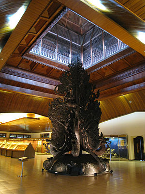 Indonesia Museum - The 8-metre tall Kalpataru tree of life, the centerpiece of the third floor