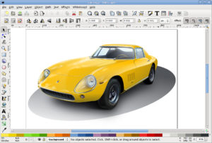 Inkscape 0.46 - Yellow Car