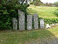 Inscribed stones at Llangaffo Church - geograph.org.uk - 1873365.jpg
