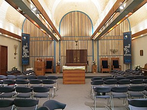 Vladimir Ossipoff - Image: Interior of Aloha Jewish Chapel on Joint Base Pearl Harbor Hickam