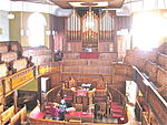 Interior view at Plough Lane Chapel, Lion Street, Brecon looking towards organ.JPG