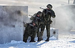 "Internal Troops of Russia - The VV 33rd Special Purpose Unit ""Peresvet"" during a training exercise in 2013"