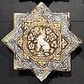 Iran, mattonelle stellate con animali, 1250-1300 ca. lepre.JPG