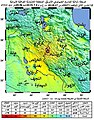 Iran-Iraq border earthquake ShakeMap-ar.jpg