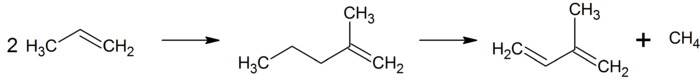 Darstellung von Isopren aus Propen