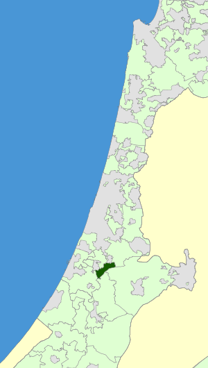 Israel Map - Nahal Sorek Regional Council Zoomin.svg