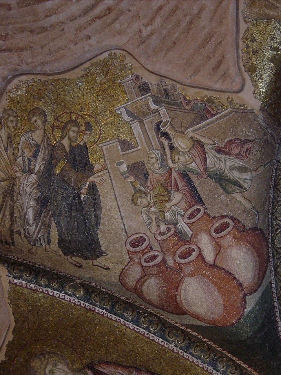 Istanbul - S. Salvatore in Chora - Esonartece - Nozze di Cana - Foto G. Dall'Orto 26-5-2006