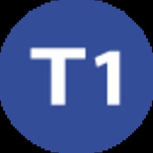 T1 (Istanbul Tram) - Image: Istanbul public transport T1 line symbol
