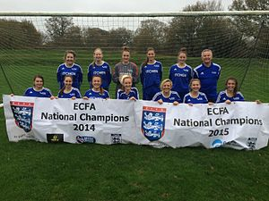 Itchen College - Itchen College's ladies football team are ECFA National Champions 2 years running.