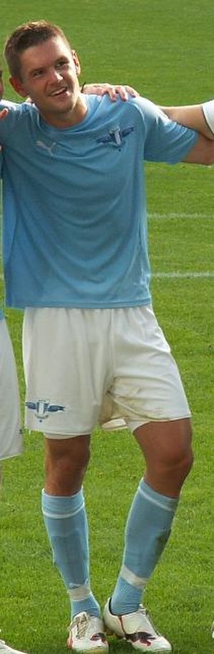 Ivo Pękalski - Pękalski playing for Malmö FF in 2010.