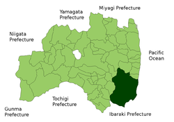 Location of Iwaki in Fukushima Prefecture