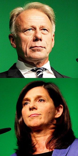 German federal election, 2013 - Image: Jürgen Trittin y Katrin Göring Eckardt 2013