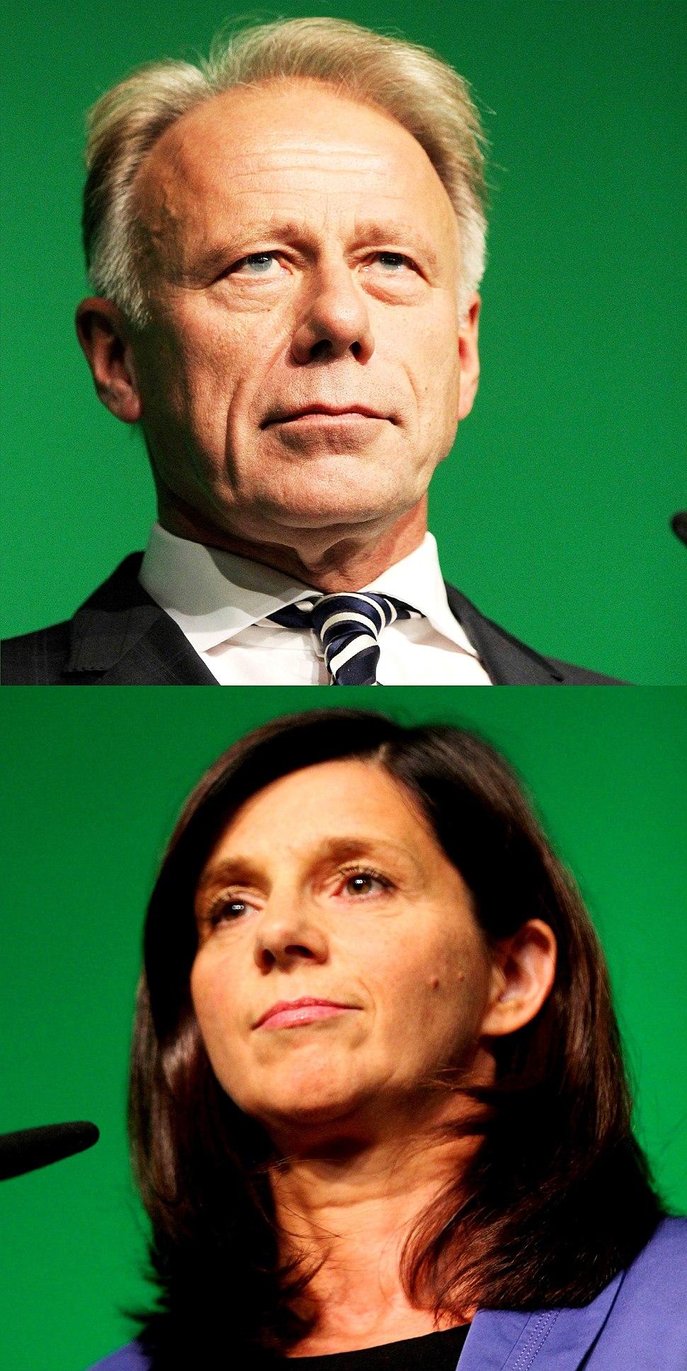 Jürgen Trittin y Katrin Göring-Eckardt 2013