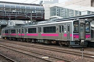 701 series - Akita-based 701-0 series 2-car set N18 in April 2012