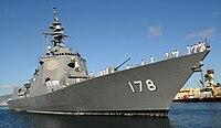 المارد الياباني يداعب التنين الصيني ...الحاملة  Izumo-class التي ليست حاملة !! - صفحة 4 200px-JS_Ashigara%2C_DDG-178_at_Naval_Station_Pearl_Harbor