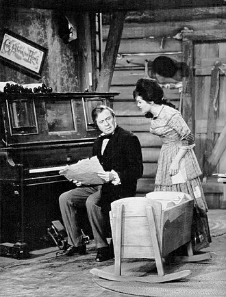 The Jack Benny Program - Benny as composer Stephen Foster and Connie Francis as his wife who nags him to write a successful song, 1963.