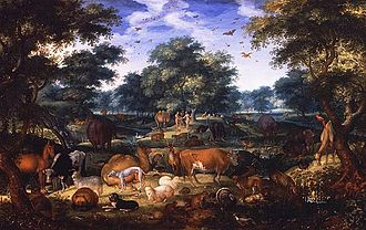 Jacob Savery - Garden of Eden by Jacob Savery in 1601.