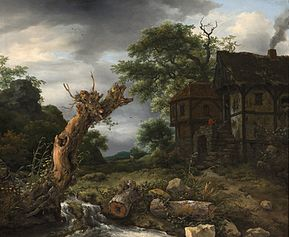 Landscape with a Half-Timbered House and a Blasted Tree