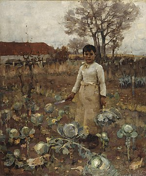 James Guthrie (artist) - A Hind's Daughter by Sir James Guthrie 1883