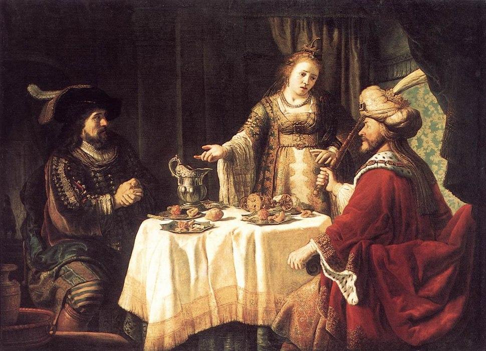 Jan Victors - The Banquet of Esther and Ahasuerus - WGA25059