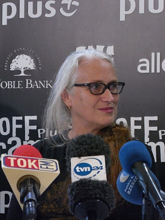 1993 Cannes Film Festival - Jane Campion, winner of the Palme d'Or at the event.
