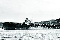 Japanese aircraft carrier Junyō moored at Sasebo, Japan, in 1945 (80-G-701429).jpg