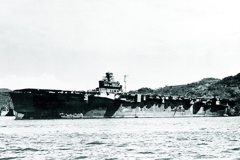 File:Japanese aircraft carrier Junyō moored at Sasebo, Japan
