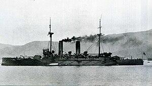 Japanese cruiser Tokiwa - Tokiwa anchored in 1904