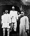 Jawaharlal Nehru with Abdul Samad Khan and Sheikh Abdullah in 1946.jpg