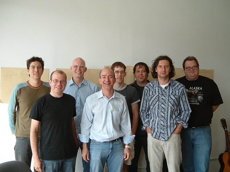 Jeff Bezos visits the Robot Co-op in 2005