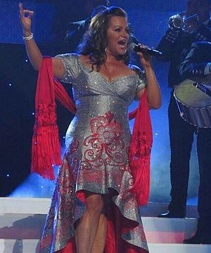 Premio Lo Nuestro 2013 - Mexican-American singer Jenni Rivera (pictured in 2012) won five Lo Nuestro Awards and received a posthumous tribute by various artists at the ceremony.