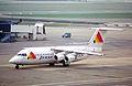 Jersey European Airways BAe 146-300; G-JEAM@LGW;14.04.1996 (5216908253).jpg
