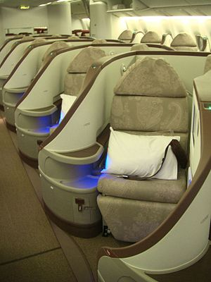 Jet Airways business class.