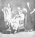 Jethalal Nayak, Dayashankar Vasanji and Jayshankar (Lakhwadwala) in Gujarati play Vikramcharit (1900 CE).jpg