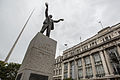 Jim Larkin Statue and the Spire of Dublin (12893828254).jpg