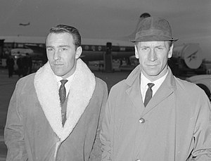 Bobby Charlton - Jimmy Greaves and Bobby Charlton, December 1964
