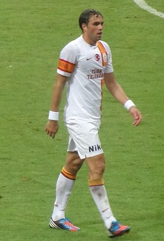 Johan Elmander - Elmander playing for Galatasaray in 2012