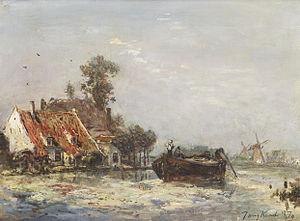Johan Barthold Jongkind - Rivier de buurt van Rotterdam.jpg