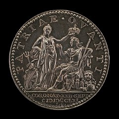 Britannia Crowning the King [reverse]