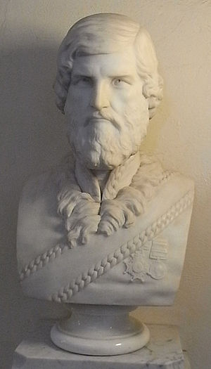 John Jacob (East India Company officer) - Brigadier General John Jacob, CB. Marble bust at Taunton Shire Hall