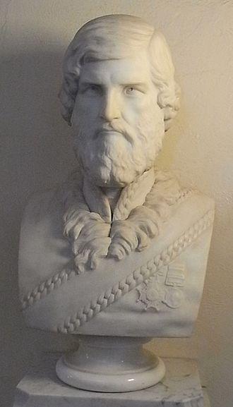 John Jacob (East India Company officer) - Brigadier General John Jacob, CB. Marble bust at Taunton Shire Hall